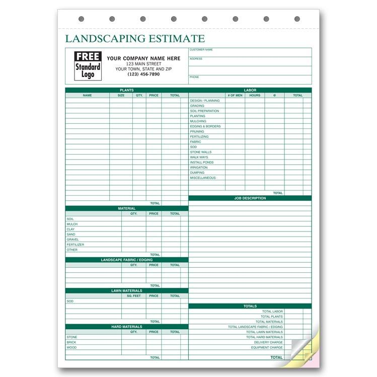 Lawn Care Estimate  Lawn Care Invoices