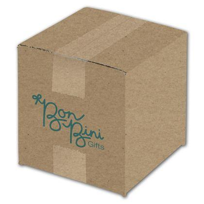 [Image: Custom-Printed Corrugated Boxes, 1 Side, Kraft, Small, 4 Bundles]