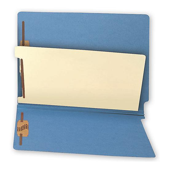 [Image: End Tab Divider Folders, Colored, 20 Pt, Multi - Fastener]