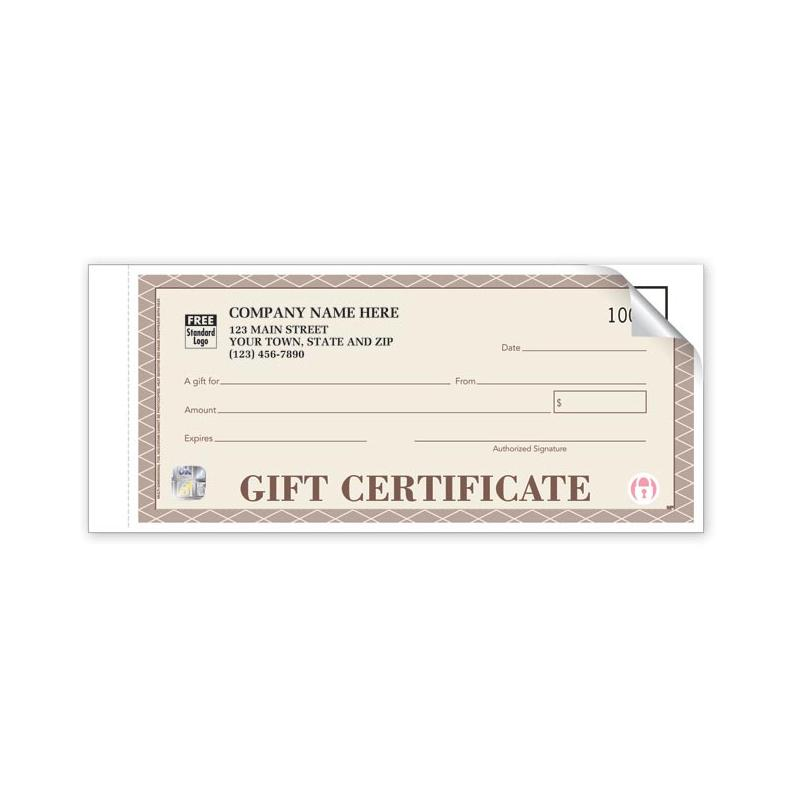 [Image: HS856A, High Security Santa Fe Gift Certificates - Individual Sets]