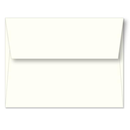[Image: Ivory Linen Announcement Envelope A2 (4 3/8 x 5 3/4) - Custom Printed]