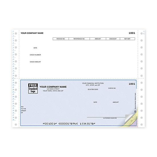 [Image: Continuous Bottom Accounts Payable Check DCB243]