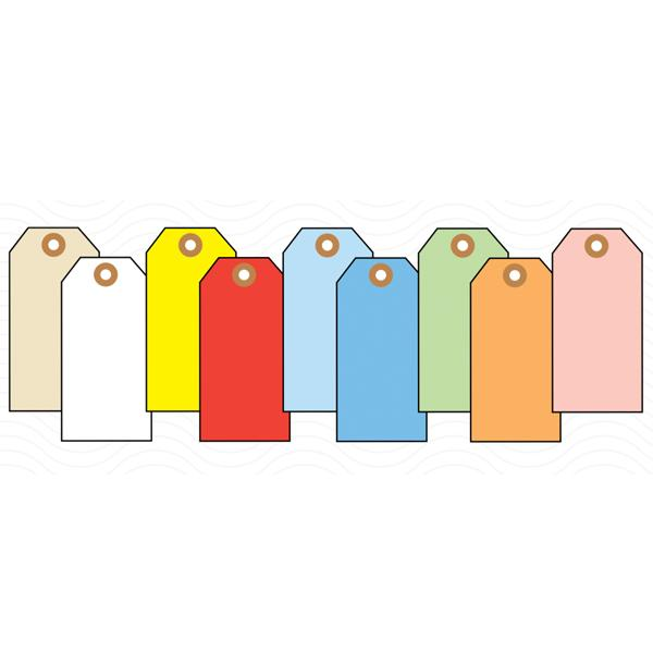 [Image: Colored Blank Extra-Large Tags]