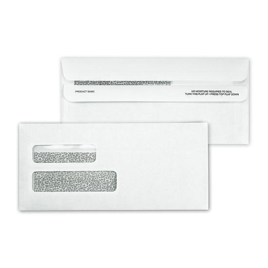 [Image: Double Window Confidential Self Seal Check Envelope]