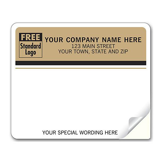 [Image: Shipping Label - Return Address Label, White - Brown Background]