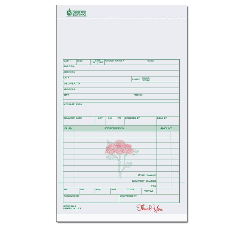Florists Flower Shop Invoices Receipts DesignsnPrint - Florist invoice template