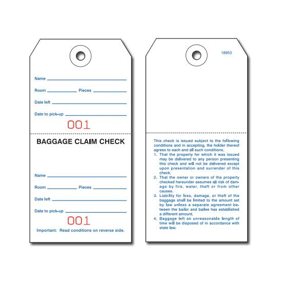 [Image: Baggage Claim Check Tags - Knotted String]
