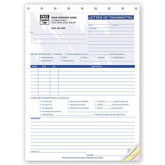 [Image: Letter Of Transmittal Custom Form]