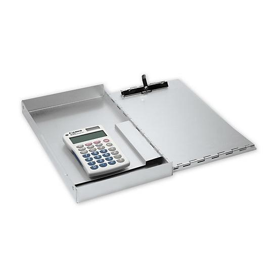 [Image: Small Portable Desk With Calculator]