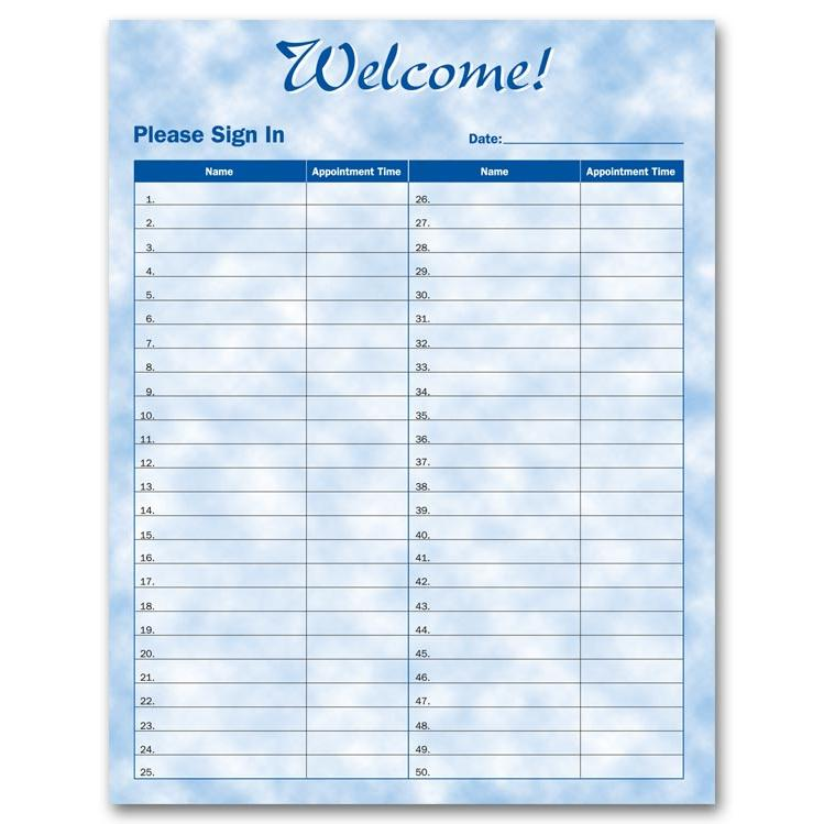 [Image:  Patient Sign-In Sheets]