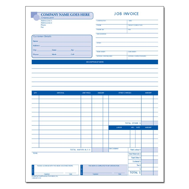 CUSTOM INVOICE FORM  Custom Invoice Forms