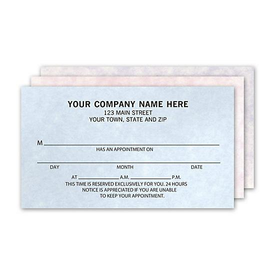 [Image: Appointment Business Cards, 1 Sided, Pastel Vellum, Assorted]