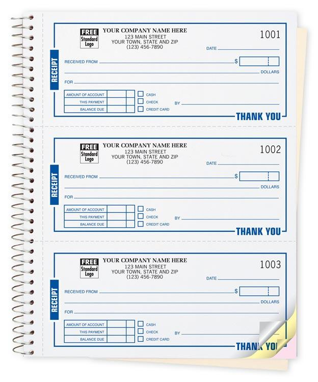 [Image: Custom Rent Receipt Book, Carbonless & Personalized]