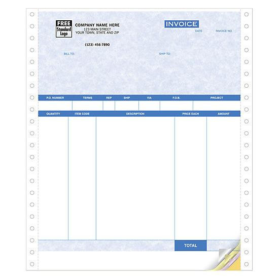[Image: Continuous Product Invoices, Parchment, Carbonless Forms]