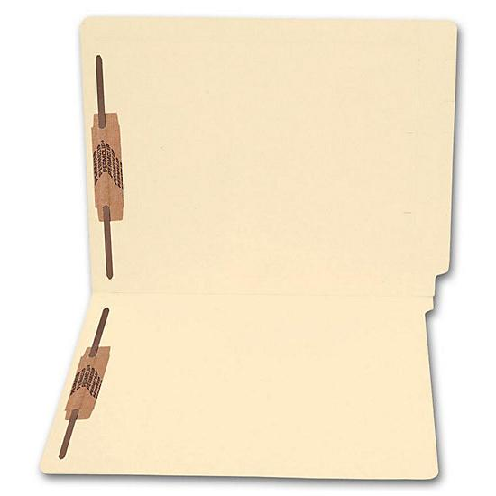 [Image: End Tab Full Cut Manila Folder, 18 Pt, Two Fastener]