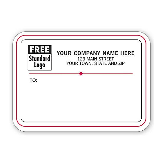 [Image: Shipping Label - Return Address Label With Black & Red Border]