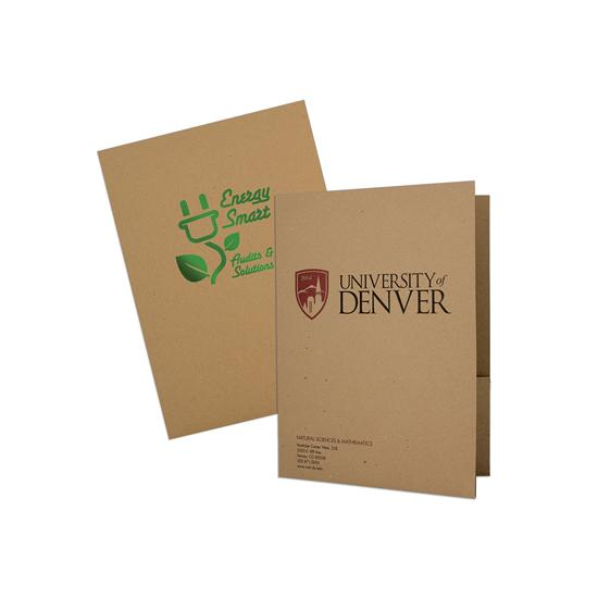 [Image: 18 pt. Eco Brown Kraft Chipboard 100% PCW Recycled Folder]