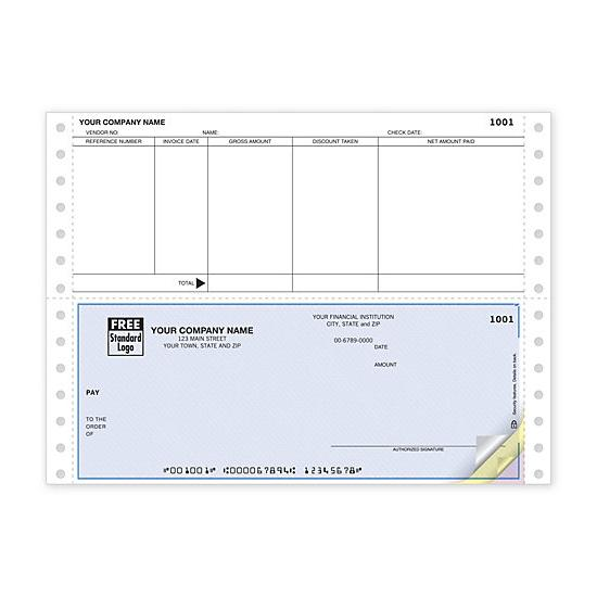 [Image: Continuous Accounts Payable Check, Compatible With ACCPAC]