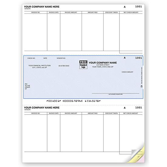 [Image: Laser Middle Accounts Payable Check DLM278]