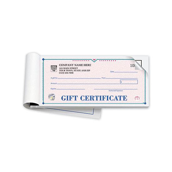 [Image: Custom Printed Gift Certificate Book With Carbon Copy, Security Feature]