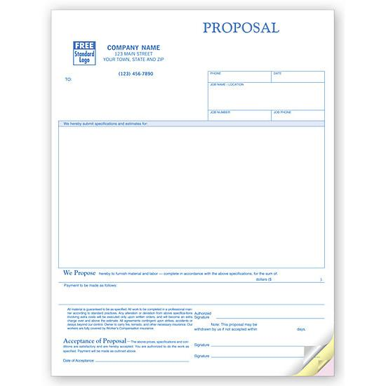 [Image: Laser Proposal Form With Large Blank Area]