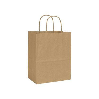 "[Image: Cub Shoppers Bag, Recycled Kraft, Custom, 8 1/4 x 4 3/4 x 10 1/2""]"