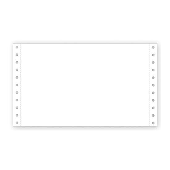 "[Image: 9 1/2 X 5 1/2"" Continuous Feed Blank Stock Paper]"