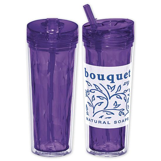 [Image: 18-oz. Hot & Cold Flip n Sip Geometric Tumbler - Personalized]