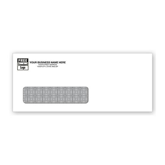 [Image: Business Check Envelope - Single Window, Custom Printed Return Address, Tinted Inside, Confidential]