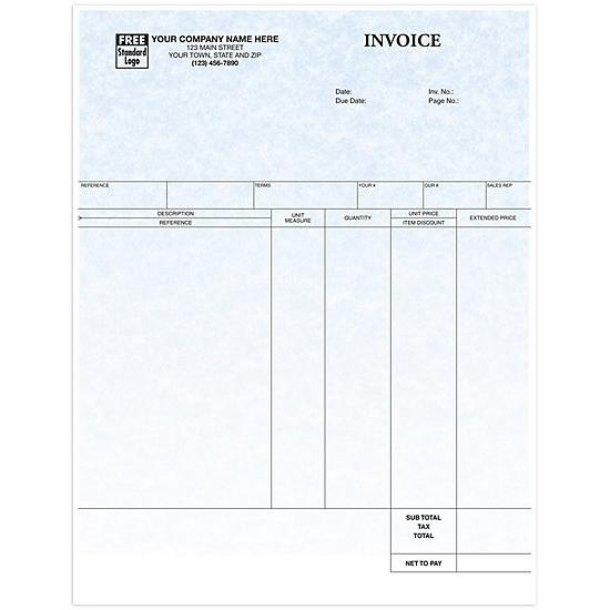 [Image: Laser Printer Service Invoice, Parchment, Custom Printed]