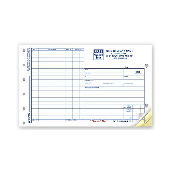 [Image: Custom Carbon Copy Work Order Forms]