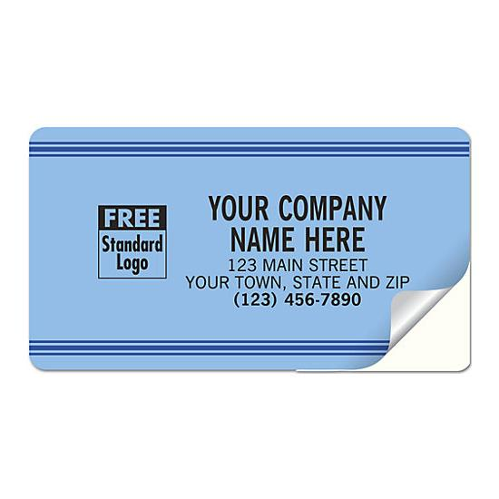 [Image: Large Service Labels, Padded, Blue With Blue Stripes]