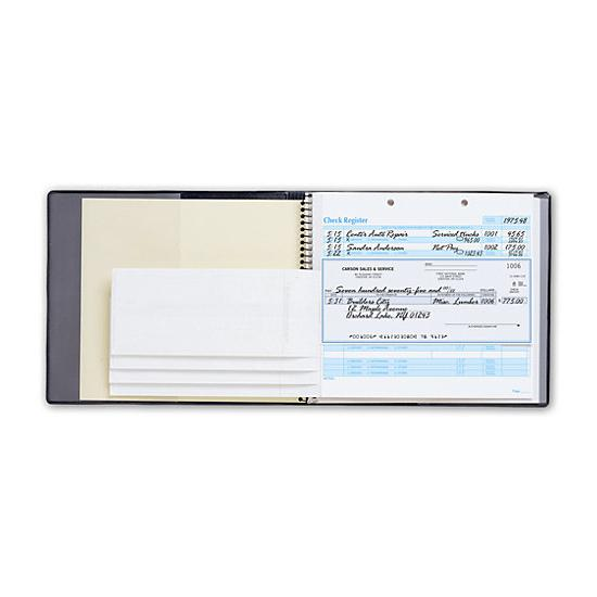 [Image: Easy Record Checkbook With Black Cover]