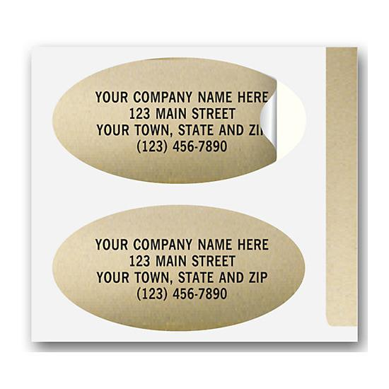 [Image: Advertising Labels, Padded, Paper, Gold Foil, Oval]