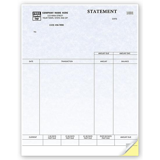 [Image: Billing Statement Form, Laser and Inkjet Compatible, Parchment, Custom Printed]
