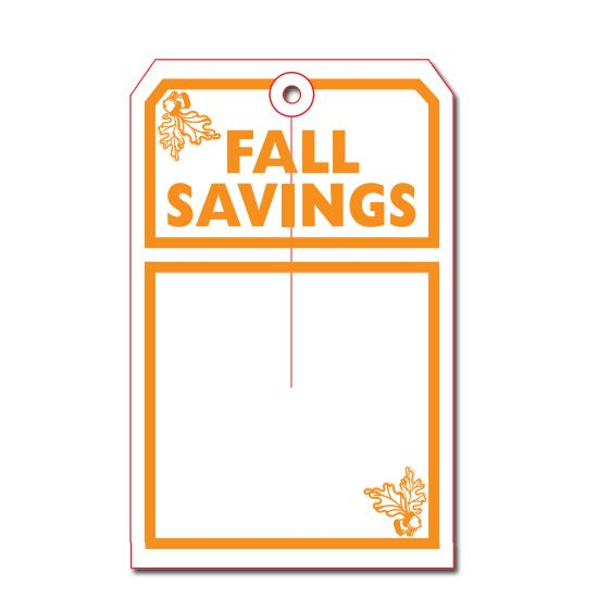 [Image: Fall Savings Tag]