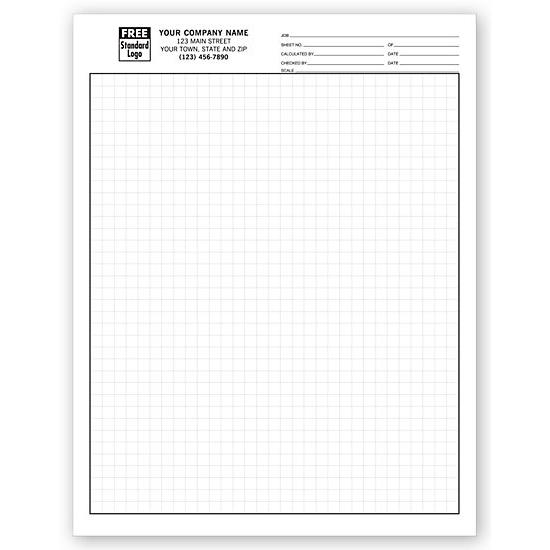 "[Image: Graph Papers, Standard 1/4"", Padded - Custom Printed]"