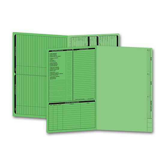 [Image: Real Estate Folder, Left Panel List, Legal Size, Green]