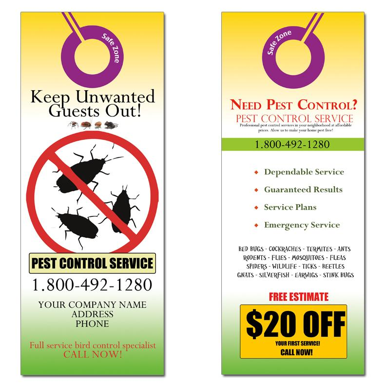 [Image: Pest Control Door Hanger Marketing]