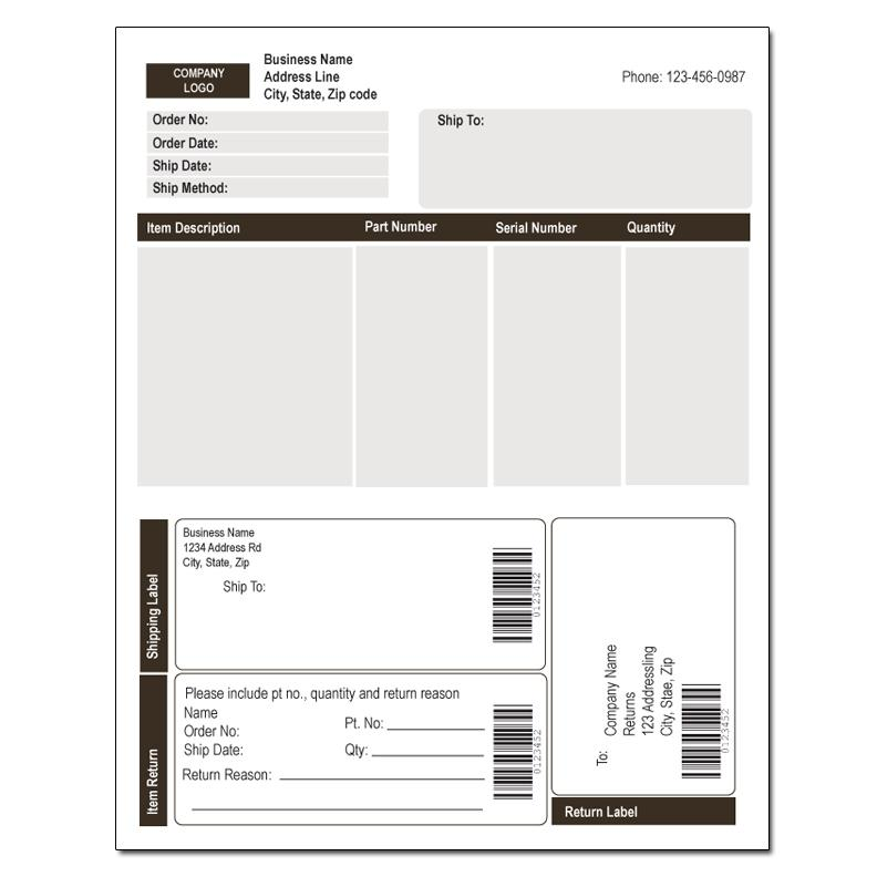[Image: Business Form with Label Integrated]