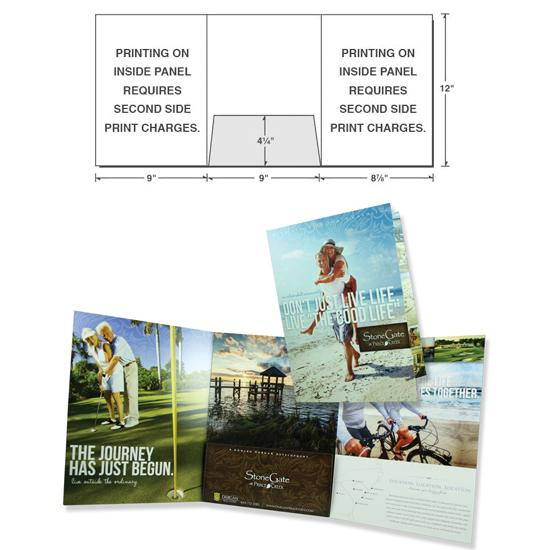 [Image: Custom Presentation Folder With Three Panels & One Center Pocket]