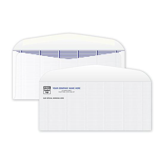 [Image: 9 Check Envelope - Secure, No Windows, Blue Tint Inside, Personalized, Confidential Business Envelopes]