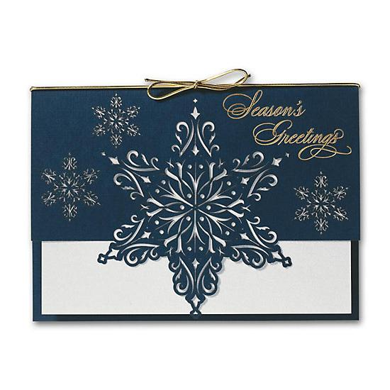 [Image: Star Of Snow Laser Cut Holiday Cards]