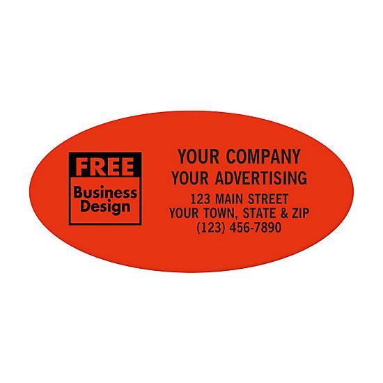 "[Image: Oval 2 X 1"" Paper Label - Custom Printed]"