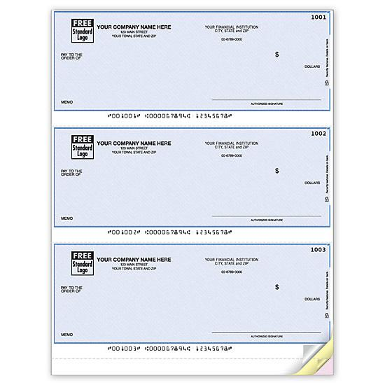 [Image: Microsoft Money Laser 3-To-Page Checks, Unlined DLA105]