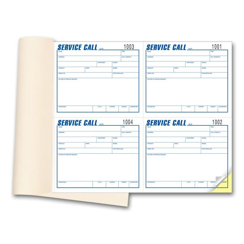 [Image: Service Call Book]