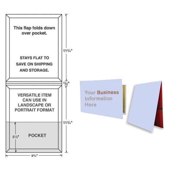 [Image: Extra Capacity Presentation Folder With One Pocket, Custom Printed]