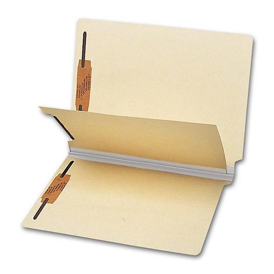 [Image: End Tab Single Divider Folder, 18 Pt, Multi-Fastener]