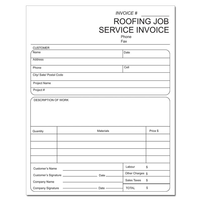 [Image: Roofing Invoice]