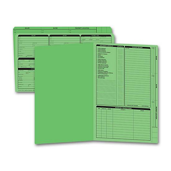 [Image: Real Estate Folder, Right Panel List, Legal Size, Green]